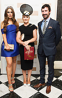 30/07/2015 report free :   Roz Purcell with Deirdre Travers from Enniskerry originally from Abbeyknockmoy runner up with John Faller Faller's Jewellers at the 4 star Hotel Meyrick's Most Stylish Lady competition, and John Faller Faller's  for Ladies Day Galway Race week 2015, Judges were by leading Irish Model Rozanna Purcell,  Mandy Maher Catwalk Models and Mary Lee , Model The winners received an amazing €2,000 prize package from Fallers of Galway . Photo:Andrew Downes, xposure