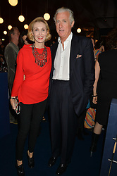 The PAD London 2014 dinner was held in the PAD Pavilion, Berkeley Square, London on 14th October 2014.<br /> ALLEGRA HICKS and ROBERTO MOTTOLA d'AMATO.
