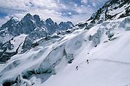 Skitour auf den Barre des Ecrins, La Grave, France<br /> <br /> Ski tour to the mountain Barre des Ecrins, La Grave, France