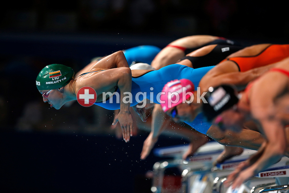 Winner Ruta Meilutyte of Lithuania competes in the women's 100m Breaststroke Final during the 15th FINA World Aquatics Championships at the Palau Sant Jordi in Barcelona, Spain, Tuesday, July 30, 2013. (Photo by Patrick B. Kraemer / MAGICPBK)