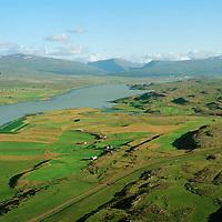 Rangá séð til suðausturs, Lagarfljót, Fljótsdalshérað áður Tunguheppur / Ranga viewing southeast, river Lagarfljot. Fljotsdalsherad former Tunguhreppur