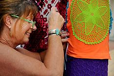 Whangarei-Yarn bombing at Hundertwasser Headquarters  support centre