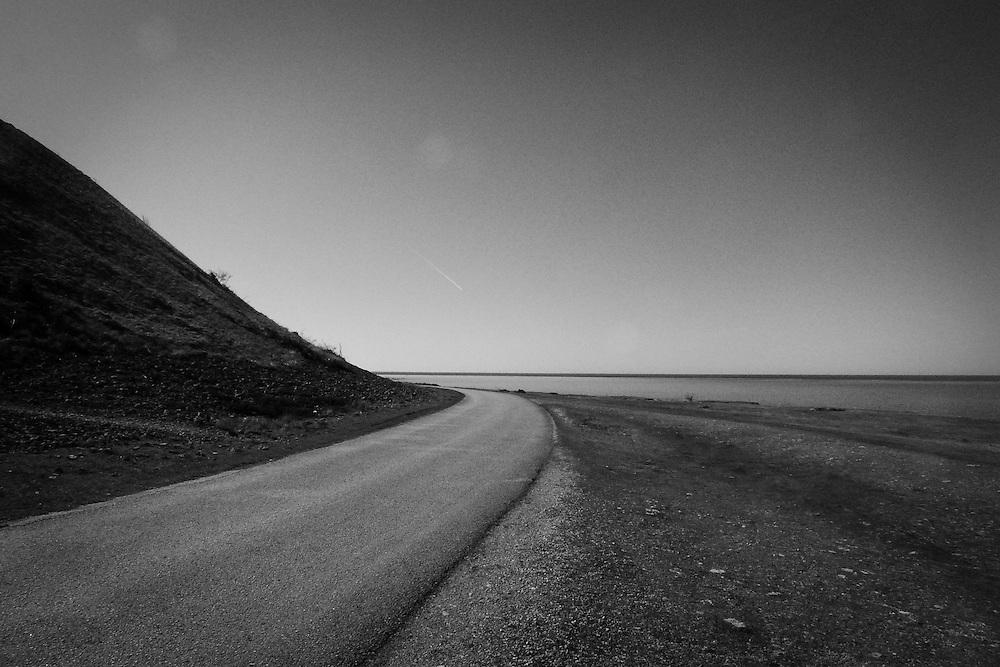Kustvägen på västra sidan mot Hoburgen på Sudret, södra Gotland