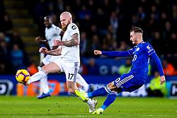 James Maddison of Leicester City takes on Aron Gunnarsson of Cardiff City - Mandatory by-line: Robbie Stephenson/JMP - 29/12/2018 - FOOTBALL - King Power Stadium - Leicester, England - Leicester City v Cardiff City - Premier League