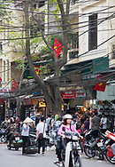 A busy street in the Old Quarter, Hanoi, Vietnam, Southeast Asia