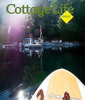 Summer at Anderson Lake, White cabin, includes paddleboarding, good dinners, visits with friends and relaxing on the dock
