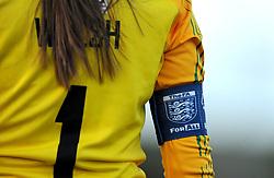 Megan Walsh of Yeovil Town Ladies Captains Arm band - Mandatory by-line: Nizaam Jones/JMP - 27/01/2019 - FOOTBALL - Stoke Gifford Stadium - Bristol, England - Bristol City Women v Yeovil Town Ladies- FA Women's Super League 1