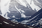 ice covered mountain side, Svalbard