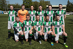 NEWTOWN, WALES - Sunday, May 6, 2018: Aberystwyth Town players line up for a group team photograph before the FAW Welsh Cup Final between Aberystwyth Town and Connahs Quay Nomads at Latham Park. (Pic by Paul Greenwood/Propaganda)