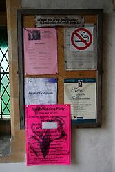 UK ENGLAND BERKSHIRE BUCKLEBURY 22MAR11 - Noticeboard at the entrance to St Denys parish church in Stanford Dingley, Berkshire, England. The Middleton family worships at this parish church...jre/Photo by Jiri Rezac..© Jiri Rezac 2011