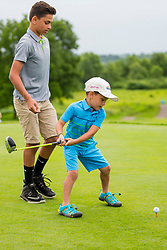 June 22, 2018 - Madison, WI, U.S. - MADISON, WI - JUNE 22: Ceremonial first tee is hit during the American Family Insurance Championship Champions Tour golf tournament on June 22, 2018 at University Ridge Golf Course in Madison, WI. (Photo by Lawrence Iles/Icon Sportswire) (Credit Image: © Lawrence Iles/Icon SMI via ZUMA Press)