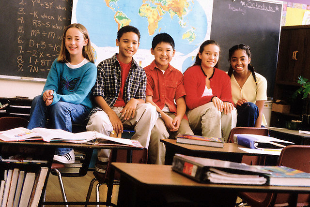Cheerful Students --- Image by © Jim Cummins/CORBIS