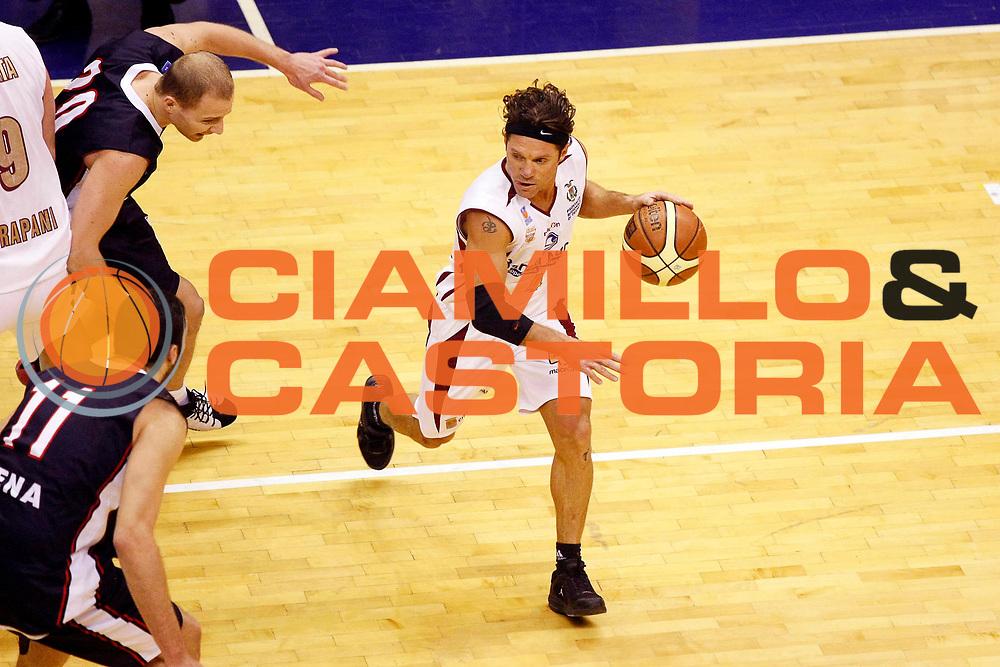 DESCRIZIONE : Milano Lega Nazionale Pallacanestro B Eccellenza 2007-08 Coppa Italia Finale Banca Nuova Trapani Consum.it Siena <br /> GIOCATORE : Davide Virgilio<br /> SQUADRA : Banca Nuova Trapani <br /> EVENTO : Lega Nazionale Pallacanestro B Eccellenza 2007-2008 <br /> GARA : Banca Nuova Trapani Consum.it Siena <br /> DATA : 20/03/2008 <br /> CATEGORIA : Palleggio<br /> SPORT : Pallacanestro <br /> AUTORE : Agenzia Ciamillo-Castoria/G.Cottini