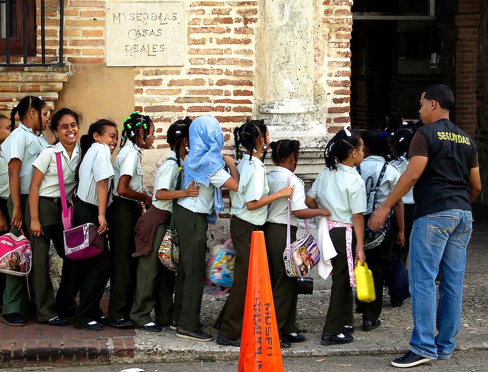Schoolchildren.Zona Colonial, Santo Domingo, Dominican Republic