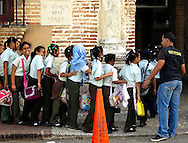 Schoolchildren.Zona Colonial, Santo Domingo, Dominican Republic