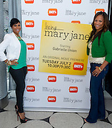 "(L to R) Stephanie D. Johnson and Shon Gables pose for a portrait before a screening of BET's ""Being Mary Jane"" at the W Hotel in Dallas, Texas on June 22, 2013."