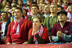 LIVERPOOL, ENGLAND - Wednesday, September 16, 2009: Debreceni's supporters during their 1-0 defeat by Liverpool during the UEFA Champions League Group E match at Anfield. (Photo by David Rawcliffe/Propaganda)