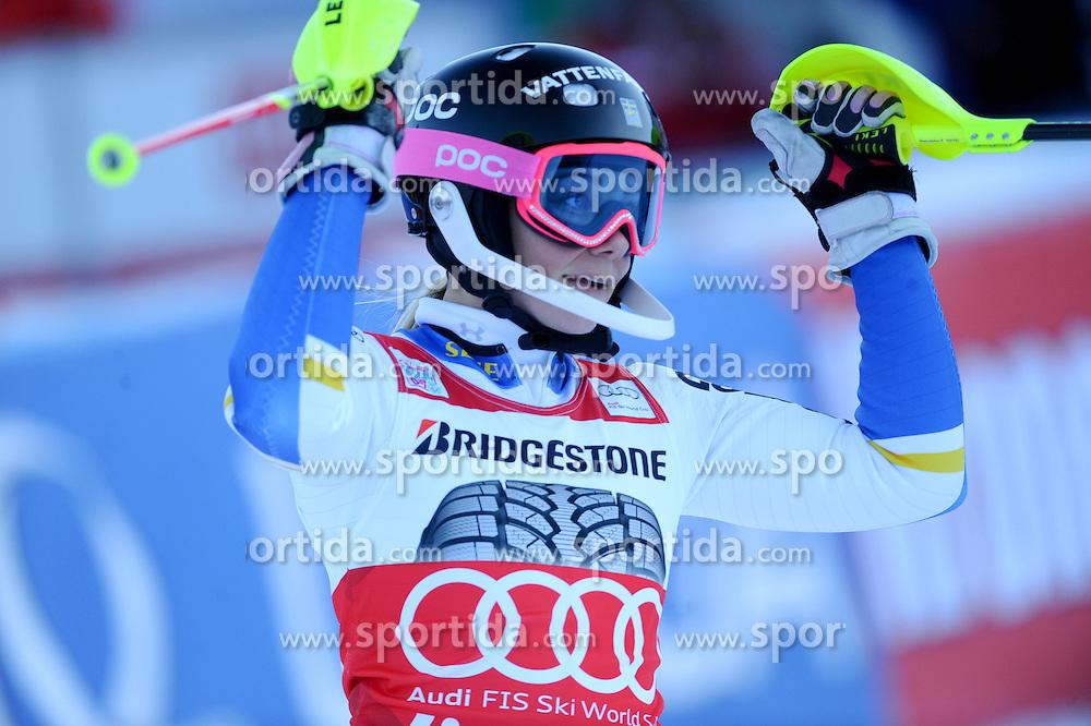 29.12.2015, Hochstein, Lienz, AUT, FIS Weltcup Ski Alpin, Lienz, Slalom, Damen, 2. Durchgang, im Bild Frida Hansdotter (SWE) // Frida Hansdotter of Sweden reacts after 2nd run of ladies Slalom of the Lienz FIS Ski Alpine World Cup at the Hochstein in Lienz, Austria on 2015/12/29. EXPA Pictures © 2015, PhotoCredit: EXPA/ Erich Spiess