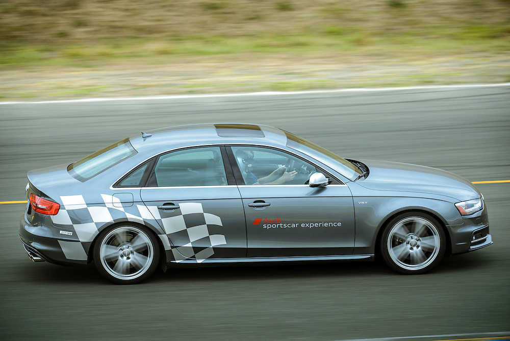 S4 coming out of Turn 6 at Sonoma Raceway | Audi sportscar experience