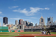 PITTSBURGH, PA - JUNE 30: General view of the stadium and downtown Pittsburgh skyline during the game between the Pittsburgh Pirates and the Milwaukee Brewers at PNC Park on June 30, 2013 in Pittsburgh, Pennsylvania. The Pirates won 2-1 in 14 innings. (Photo by Joe Robbins)