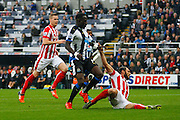 Newcastle United Midfielder Moussa Sissoko attacks the goal  during the Barclays Premier League match between Newcastle United and Stoke City at St. James's Park, Newcastle, England on 31 October 2015. Photo by Craig McAllister.