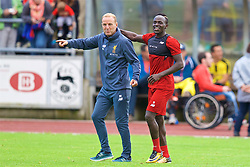 ROTTACH-EGERN, GERMANY - Friday, July 28, 2017: Liverpool's Sadio Mane and player liaison officer Ray Haughan during a training session at FC Rottach-Egern on day three of the preseason training camp in Germany. (Pic by David Rawcliffe/Propaganda)
