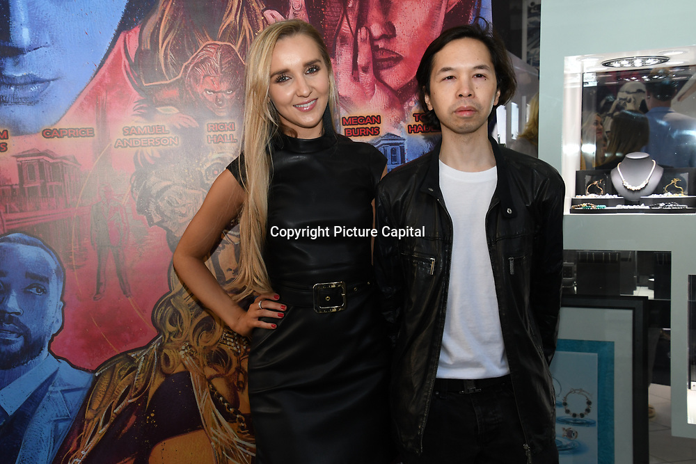 Emily Adams  is a Capital FM presenter and Joey de Cordero arrives at Tresor Paris In2ruders - launch at Tresor Paris, 7 Greville Street, Hatton Garden, London, UK 13th September 2018.