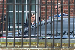 © Licensed to London News Pictures. 20/08/2019. London, UK. Home Secretary Priti Patel leaves the back of Downing Street .  Photo credit: George Cracknell Wright/LNP