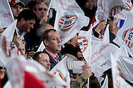 EINDHOVEN, PSV - Bayern Munchen, 01-11-2016, voetbal, Champions League, seizoen 2016-2017, Philips Stadion, sfeer, vlaggen, PSV logo.