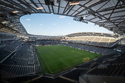 Banc of California stadium before an MLS soccer game, between the LAFC and the Toronto FC. LAFC and Toronto FC tied 1-1 on Saturday, Sept 21, 2019, in Los Angeles. (Ed Ruvalcaba/Image of Sport)