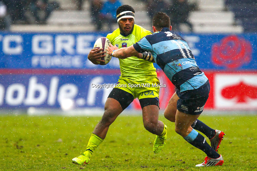 Alipate RATINI - 24.01.2015 -  Grenoble / Blues Cardiff - European Champions Cup <br /> Photo : Jack Robert / Icon Sport
