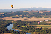 Vista Balloons tour over Eola Hills AVA wineries, Willamette Valley, Oregon