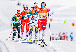 28.02.2019, Seefeld, AUT, FIS Weltmeisterschaften Ski Nordisch, Seefeld 2019, Langlauf, Damen, Staffel 4x5 km, im Bild v.l. Frida Karlsson (SWE), Ingvild Flugstad Oestberg (NOR) // f.l. Frida Karlsson of Sweden and Ingvild Flugstad Oestberg of Norway during the ladie's Relay 4x5 km competition of the FIS Nordic Ski World Championships 2019. Seefeld, Austria on 2019/02/28. EXPA Pictures © 2019, PhotoCredit: EXPA/ Stefan Adelsberger