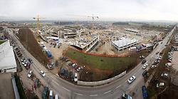 Building of new football stadium and basketball arena in Ljubljana - Stozice, on December 10, 2009, in Ljubljana, Slovenia.  (Photo by Vid Ponikvar / Sportida)
