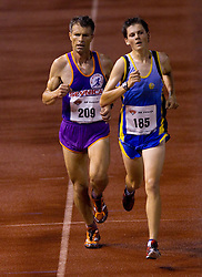 Robert Lendaro and Rok Puhar during men 5000 m at Slovenian National Championships in athletics 2010, on July 17, 2010 in Velenje, Slovenia. (Photo by Vid Ponikvar / Sportida)