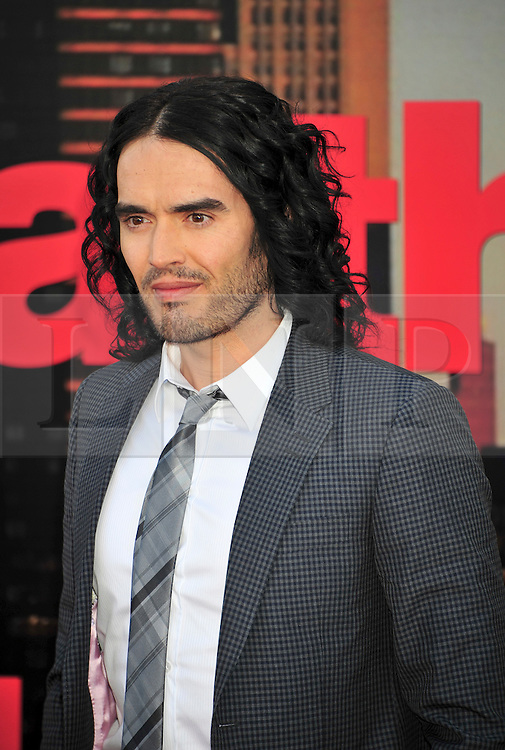 © licensed to London News Pictures. London, UK.  19/04/11. Russell Brand attends the premiere of Arthur at The O2 in London.  Please see special instructions for usage rates. Photo credit should read ALAN ROXBOROUGH/LNP