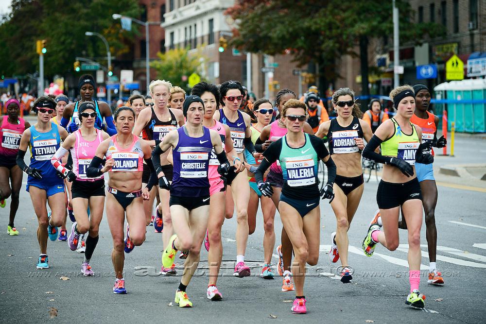 Runner in NY City Marathon, Brooklyn, NY
