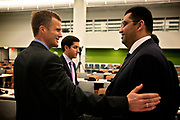 Chief Executive Officer in Statoil, Helge Lund, attends an UN Panel on  Technology Development and Transfer for Climate Change in 2010.<br /> <br /> Helge Lund with  Dr. Sultan Ahmed Al Jaber, CEO of  Abu Dhabi Future Energy.