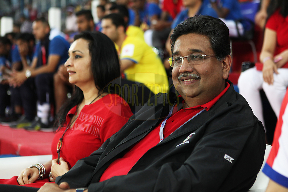ADK co owner during match 13 of the Hero Indian Super League between Atl&eacute;tico de Kolkata and Kerala Blasters FC held at the Salt Lake Stadium in Kolkata, West Bengal, India on the 26th October 2014.<br /> <br /> Photo by:  Saikat Das/ ISL/ SPORTZPICS