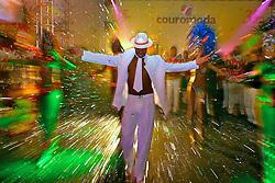 Comemoração do aniversário da feira para expositores e convidados no segundo dia da COUROMODA 2008 - 35ª Feira Internacional de Calçados, Artigos Esportivos e Artefatos de Couro que acontece de 14 a 17 de janeiro, no Parque Anhembi, São Paulo. FOTO: Jefferson Bernardes / Preview.com