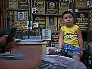 Vietnam, Hanoi:  hand made tombstones.