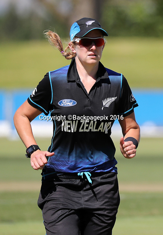 Morna Nielsen of New Zealand during the 2016 International ODI Womens cricket match between South Africa and New Zealand at Boland Park, Paarl on 16 October 2016 ©Chris Ricco/BackpagePix