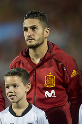 October 6, 2017 - Alicante, Spain - Koke (Atletico) during the qualifying match for the World Cup Russia 2018 between Spain and Albaniaat the Jose Rico Perez stadium in Alicante, Spain on October 6, 2017. (Credit Image: © Jose Breton/NurPhoto via ZUMA Press)