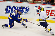 20 March 2009:  in first period action in the CCHA championship playoffs at Joe Louis Arena Detroit, MI.