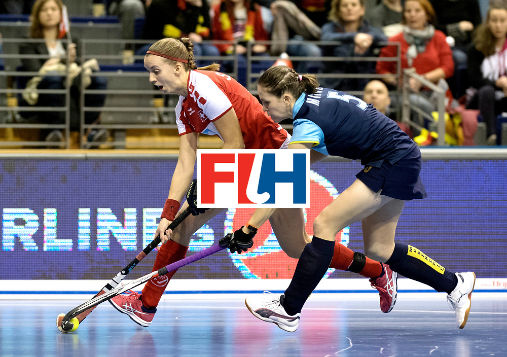BERLIN - Indoor Hockey World Cup<br /> Quarterfinal 2: Ukraine - Switzerland<br /> foto: MOROZ Yevheniya.<br /> WORLDSPORTPICS COPYRIGHT FRANK UIJLENBROEK