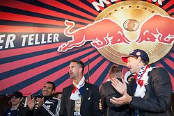 17.05.2012, Red Bull Arena, Salzburg, AUT, 1. FBL, FC Red Bull Salzburg, Meisterfeier im Bild feiert die Oesterreichische Meisterschaft Ricardo Moniz, (Red Bull Salzburg, Trainer), Stefan Maierhofer, (Red Bull Salzburg, #9), Stefan Hierlaender, (Red Bull Salzburg, #22) // FC Red Bull Salzburg celebrate after winning the Austrian league soccer championship at the Red Bull Arena, Salzburg, Austria on 2012/05/17. EXPA Pictures © 2012, PhotoCredit: EXPA/ Juergen Feichter