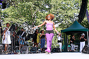Lynna Movingstar performs as SummerStage presents Club Classics Live at Rumsey Playfield in Central Park in New York City, New York on June 28, 2014.