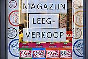 Nederland, Arnhem, 20-1-2011Een winkel houdt uitverkoop.Foto: Flip Franssen/Hollandse Hoogte