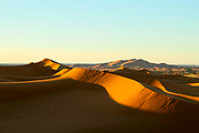 Saharan landscape, Hassilabied village, Southern Morocco, 2015-11-03.<br /><br />Hassilabied village is located on the fringes of the Erg Chebbi dunes, 3km from Merzouga.