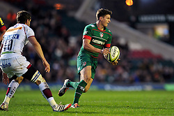 Freddie Burns of Leicester Tigers - Photo mandatory by-line: Patrick Khachfe/JMP - Mobile: 07966 386802 09/11/2014 - SPORT - RUGBY UNION - Leicester - Welford Road - Leicester Tigers v Sale Sharks - LV= Cup